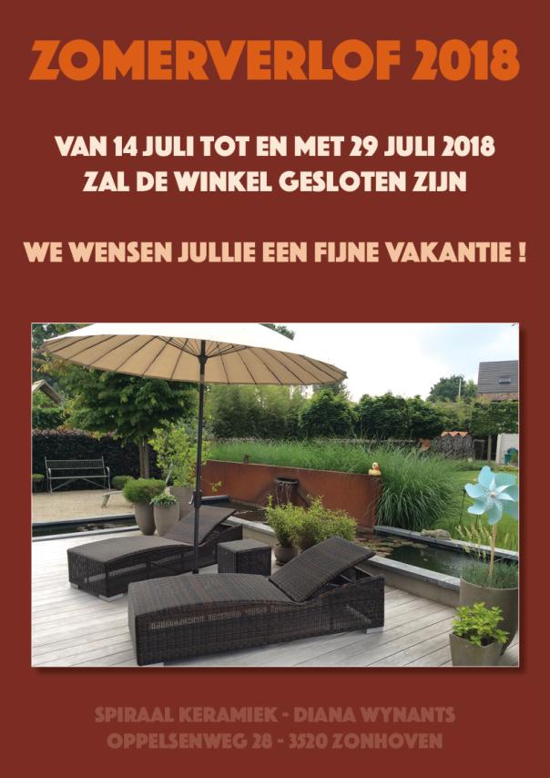 Zomerverlof 2018 - Winkel