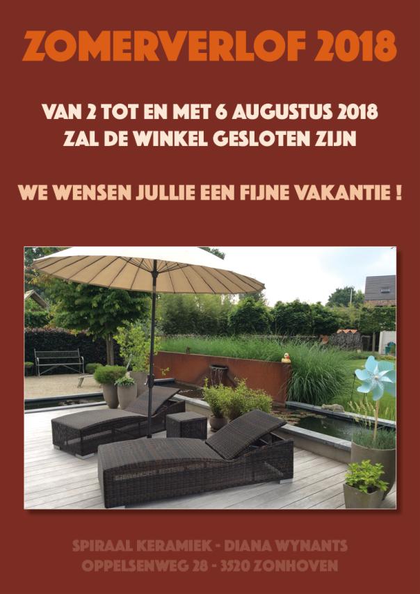 Zomerverlof EXTRA 2018 - Winkel